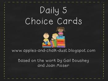 Daily 5 Choice Cards
