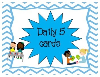 Daily 5 Choice Cards - Multi Colored Chevron Background
