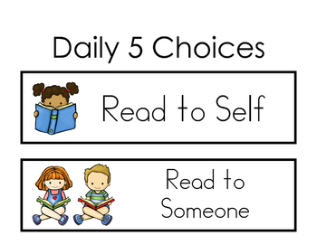 Daily 5 Choices - Slips