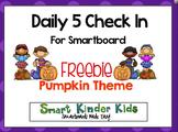 Daily 5 Check In Smartboard Freebie - Pumpkin Theme
