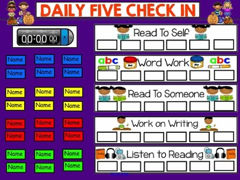 Daily 5 Check In Smartboard Freebie - Pumpkin Theme