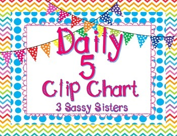 Bright Daily 5 Clip Chart Set