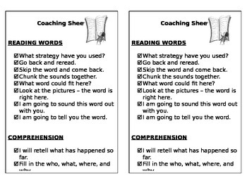 Daily 5 Coaching Sheet