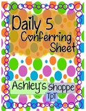 Daily 5 Conferring Sheet