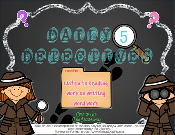 Daily 5 Detectives Listen to Reading, Work on Writing, and Word Work FREEBIE