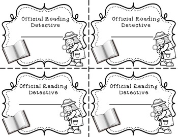 Daily 5 Detectives Read to Self FREEBIE
