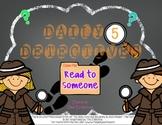 Daily 5 Detectives Read to Someone FREEBIE