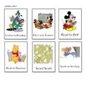 Daily 5 Disney Theme Choice Cards