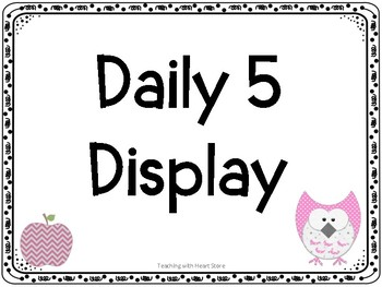 Daily 5 Display Cards