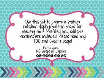 Daily 5 Display Pack- Bright Chevron- Bulletin Board, Colorful, Classroom Decor