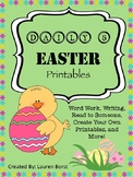 Daily 5 Easter Printables