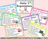 Daily 5 Expectations Posters & Choice Rotation Cards {FREEBIE}