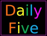 Daily 5 Explanation Posters Neon Chalkboard Editable Power Point