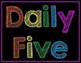 Daily 5 Explanation Posters Neon Chalkboard PDF