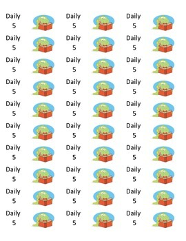 Daily 5 Folder Labels