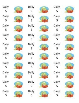 Daily 5 Folder Labels