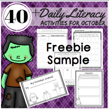 Fall Activities: Reading, Writing, and Word Work Station Activities Freebie
