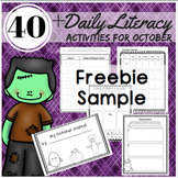 Fall Activities: Reading, Writing, and Word Work Station A
