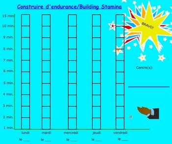 Daily 5 French Graph - Building Stamina
