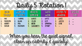 Daily 5 Groups Rotation PowerPoint - Gray Chevron