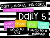 Daily 5 Groups and Cards