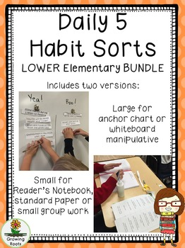 Daily 5 Habit Sorts BUNDLE for LOWER Elementary