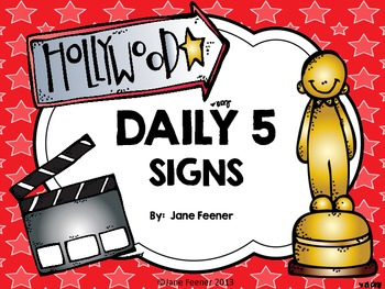 Daily 5 Hollywood Theme Signs