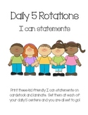 Daily 5 I can statements