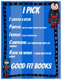 Daily 5 IPICK poster - Superhero Theme