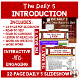 The Daily 5 Introduction Activity
