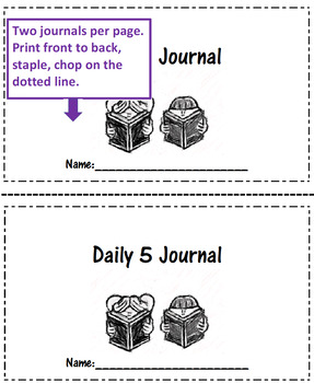 Daily 5 Centers Journal