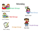 Daily 5 Kindergarten Editable Chart