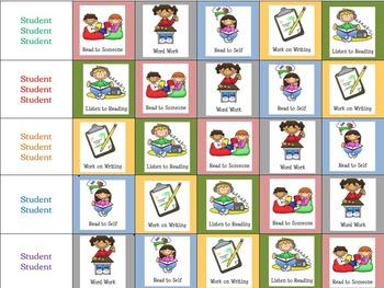 Daily 5 Kindergarten Editable Chart