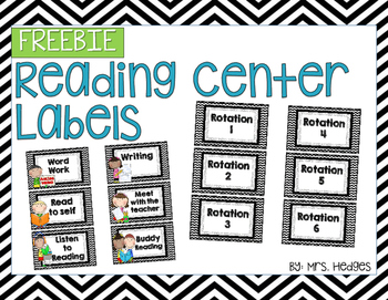 Reading Center Labels