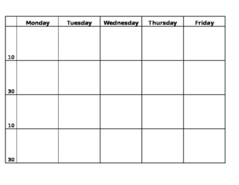 Daily 5 Lesson Planning Template