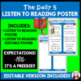 Daily 5 Listen to Reading Poster Chart