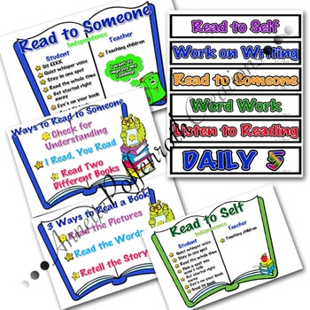 Daily 5 Literacy Cafe Complete Poster Collection