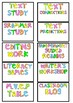 Daily 5/Literacy Rotation Chart Cards