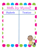 Daily 5 MATH Anchor Charts