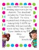 Daily 5 MATH Free Choice Clip Chart