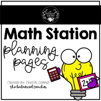 Math Station Planning Pages