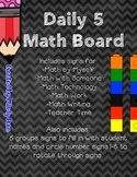 Daily 5 Math Board
