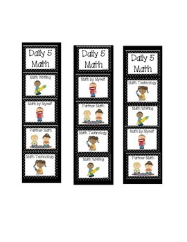 Daily 5 Math Bookmark Cards