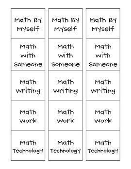 Daily 5 Math Card