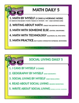 Daily 5 Math & Social Living Posters