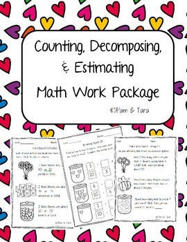 Daily 5 Math Work Pages: Estimation and Counting