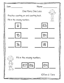 Daily 5 Math Work Pages: Number Concepts to 120