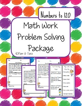 Daily 5 Math Work Pages: Story Problems - Numbers to 120