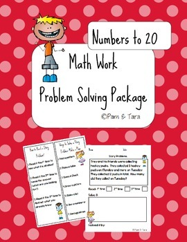 Daily 5 Math Work Pages: Story Problems - Numbers to 20