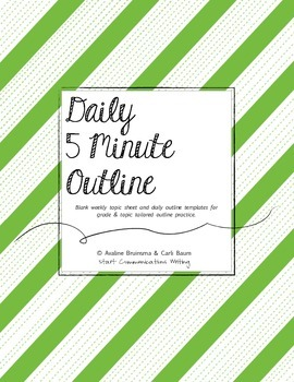 Outline - Daily 5 Minute Practice (Blank Weekly Templates) Common Core